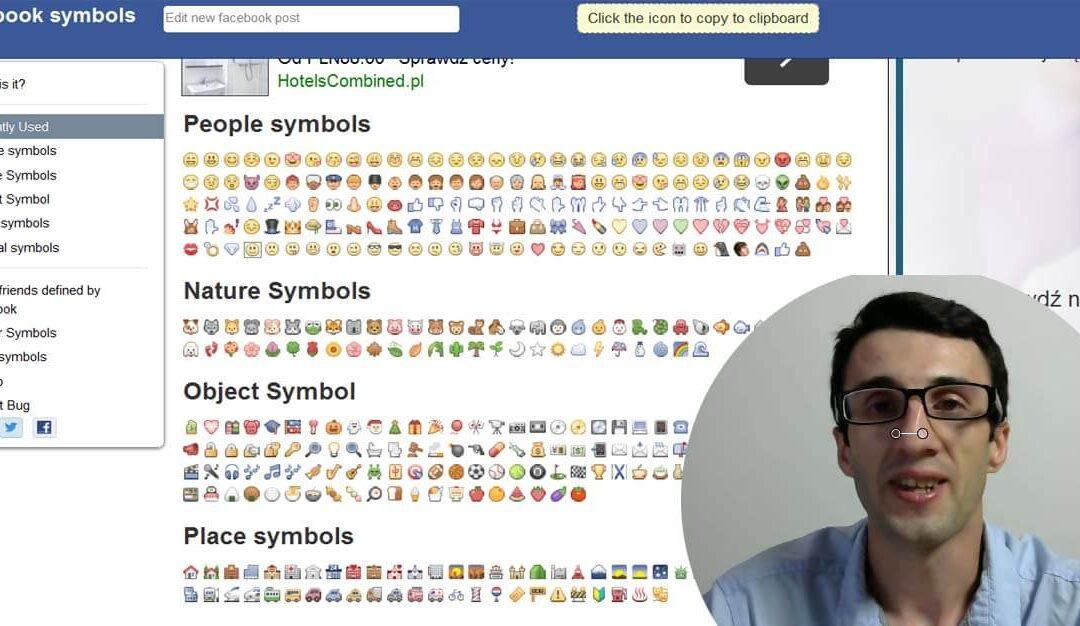☞ Jak zrobić kolorowe ikonki w treści posta na Facebooku?