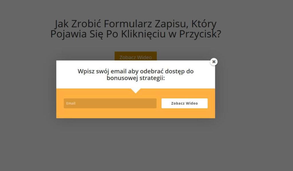 formularz zapisu po kliknieciu w przycisk