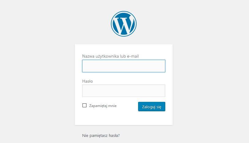 Logowanie do panelu administracyjnego WordPress