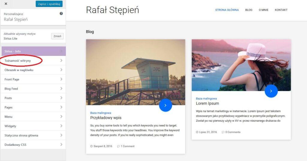 jak zrobić bloga ktory zarabia motyw personalizacja