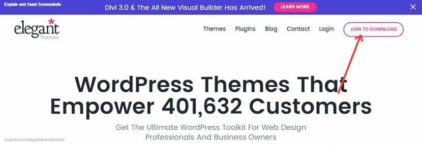 Instalacja motywu Divi WordPress Krok 1 rejestracja konta