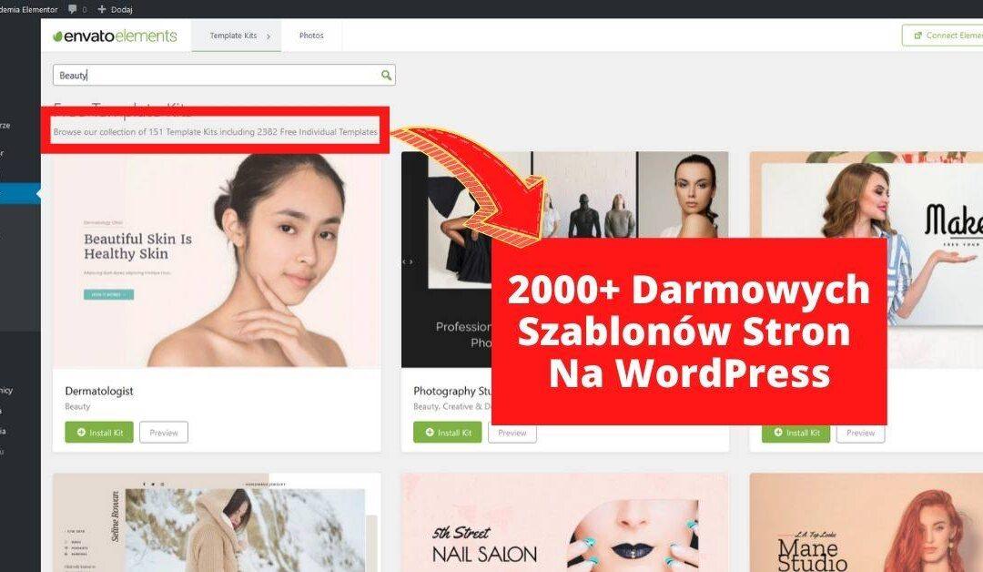 2000+ Darmowych Gotowych Szablonów Stron na WordPress