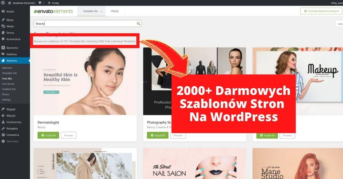 2000+ Darmowych Szablonów Stron Na WordPress