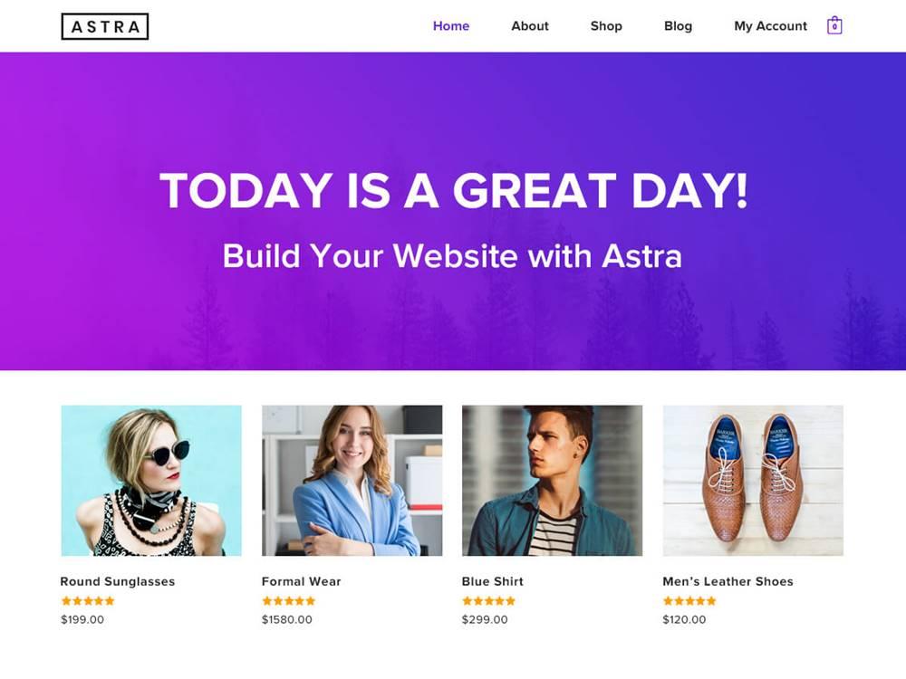 Najlepszy darmowy motyw WordPress 2020 - Astra