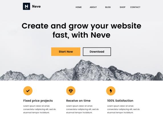 Najlepszy darmowy motyw WordPress 2020 - NEVE