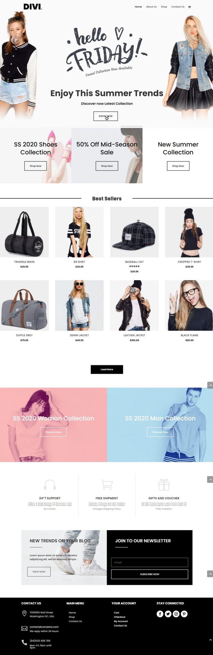 Screenshot of Divi WooCommerce _2 full