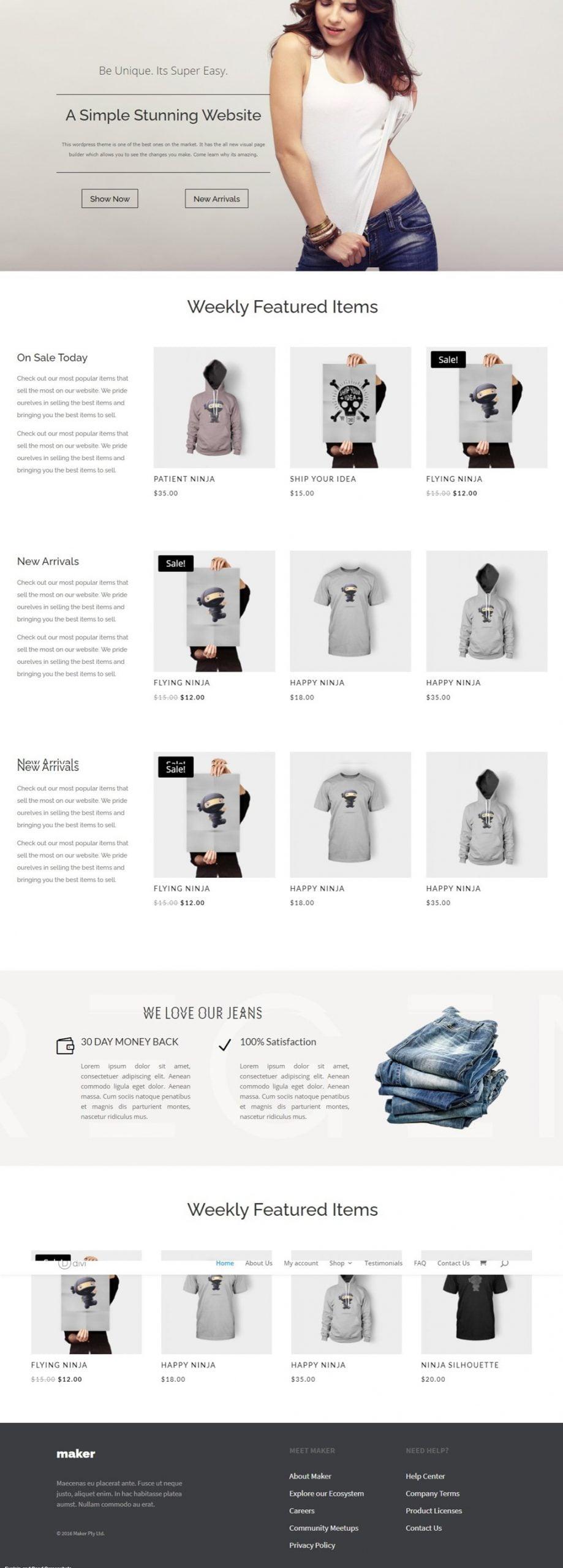 Screenshot of E-Commerce – E Commerce Layouts full